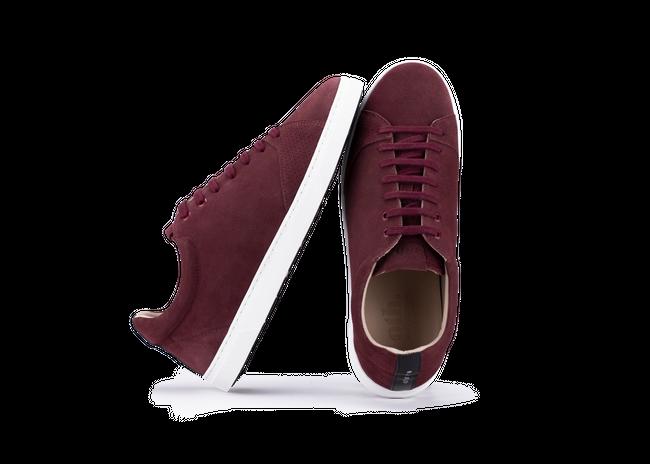 Chaussure en gravière suède bordeaux / semelle blanc - Oth num 1