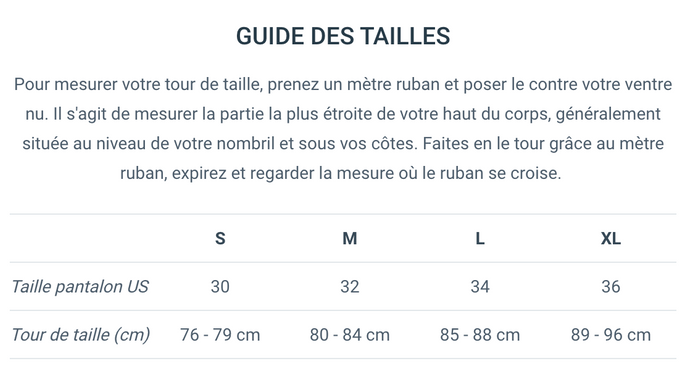 Guide de taille Hopaal