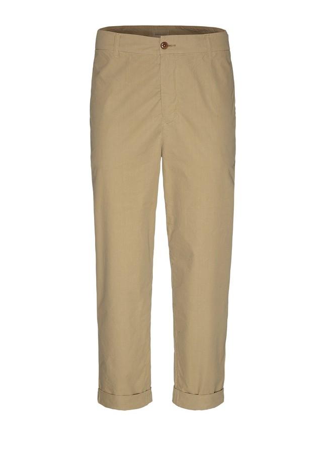 Chino ample beige en coton bio - taadeo - Armedangels num 4