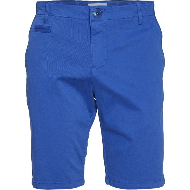 Short chino droit bleu en coton bio - chuck - Knowledge Cotton Apparel