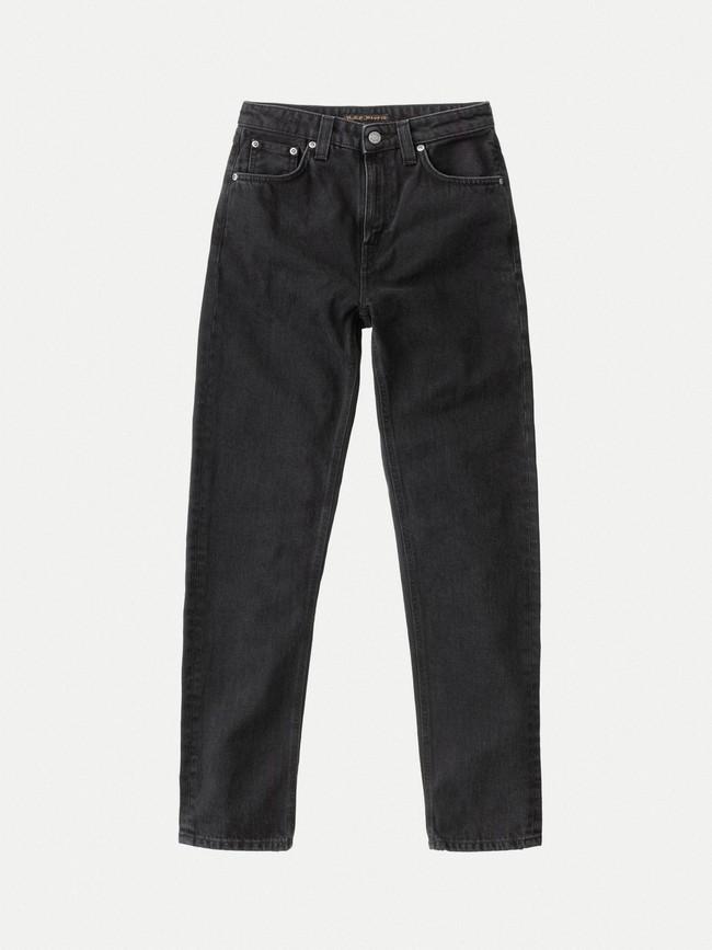 Jean mom noir en coton bio - breezy britt black worn - Nudie Jeans num 4