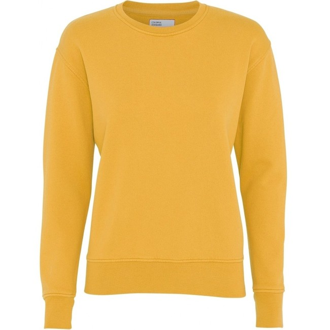 Sweat jaune en coton bio - burned yellow - Colorful Standard