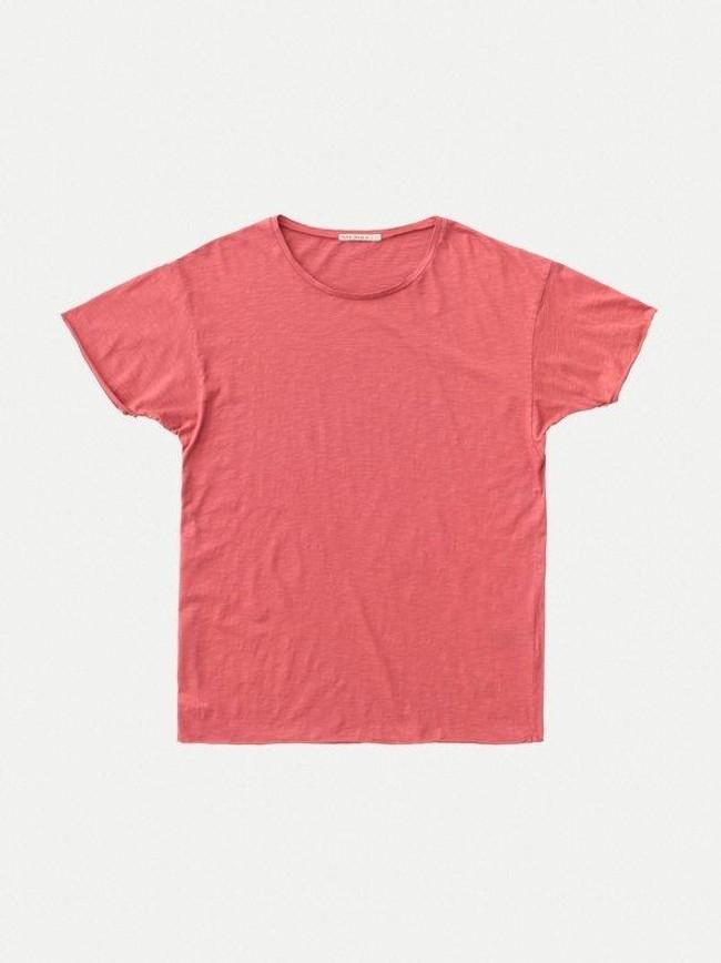 T-shirt corail en coton bio - roger - Nudie Jeans num 6