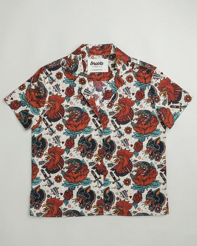 Oldschool tattoo aloha shirt - Brava Fabrics num 1