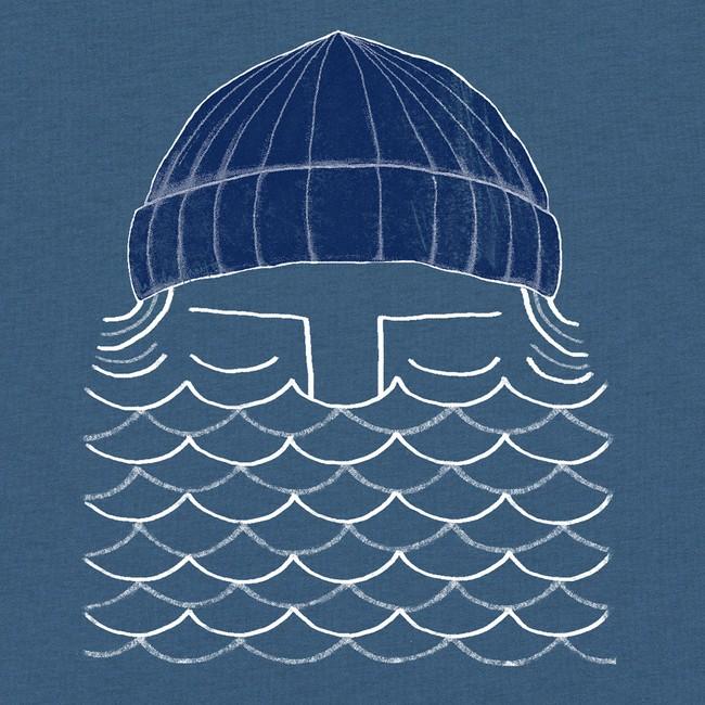T-shirt en coton bio blue to the sea - Bask in the Sun num 2