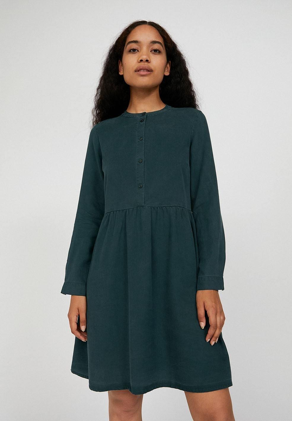 Robe Patineuse Vert Bouteille En Tencel Hallaa Armedangels