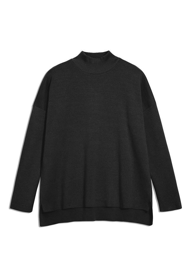 Pull noir en coton bio - yunaa - Armedangels num 4
