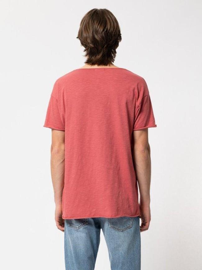 T-shirt corail en coton bio - roger - Nudie Jeans num 2