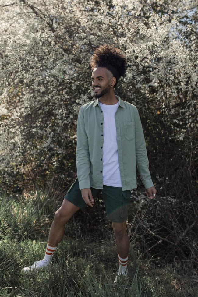 Chemise vert pâle en coton bio - henry - Nudie Jeans