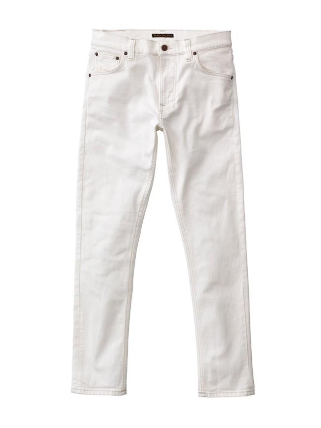 Jean slim blanc en coton bio - lean dean ecru - Nudie Jeans num 3