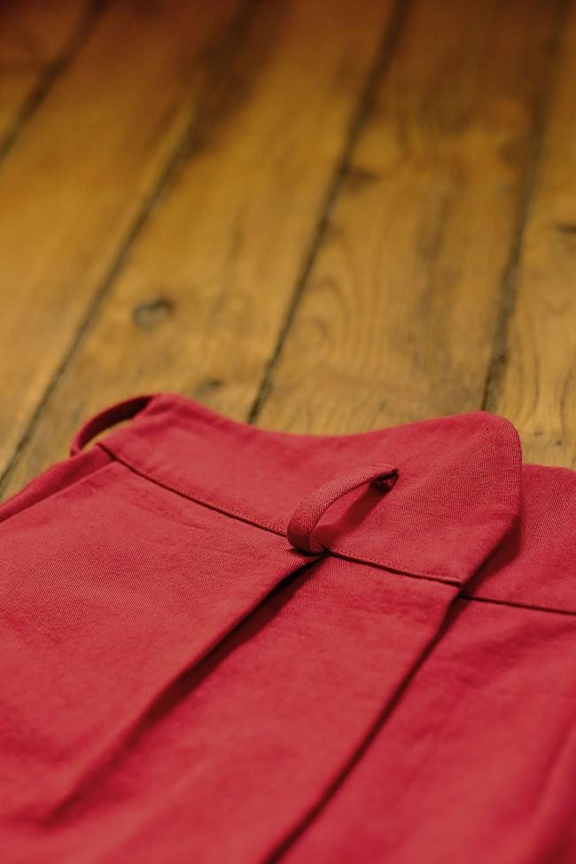 Pantalon  rouge en coton bio - Atelier Unes num 2