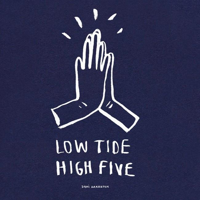 Sweat en coton bio navy high five - Bask in the Sun num 2