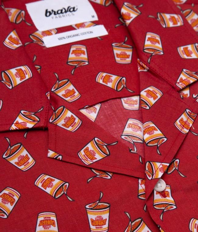 Curry to go printed shirt - Brava Fabrics num 2