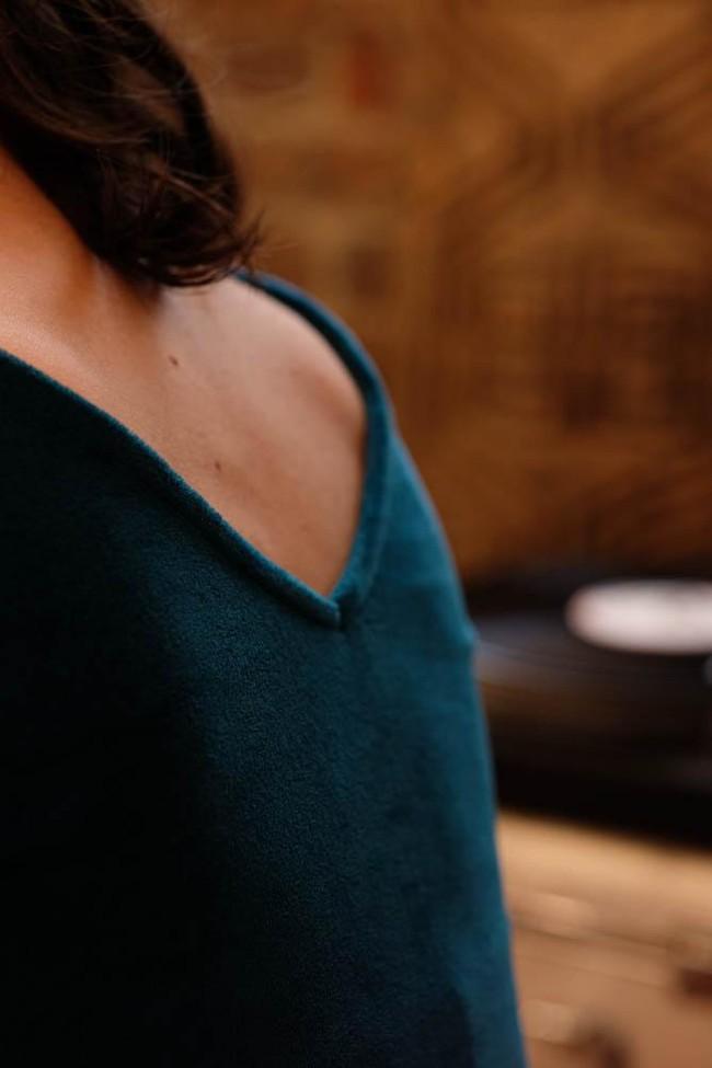 La Robe Ecume en coton bio - rouge - Atelier Unes num 3