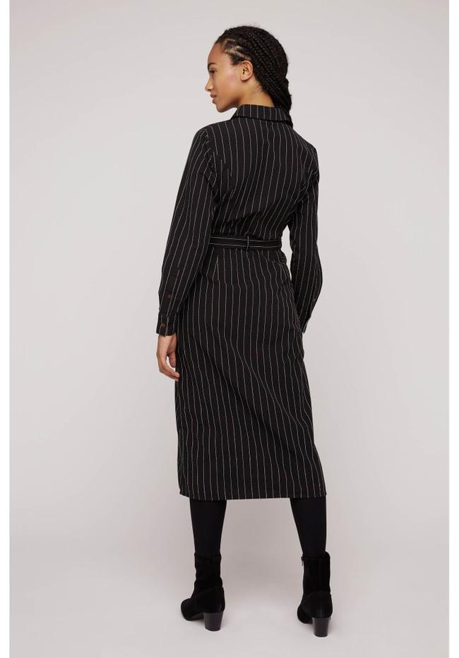 Robe chemise rayée noire en coton bio - isadora - People Tree num 3