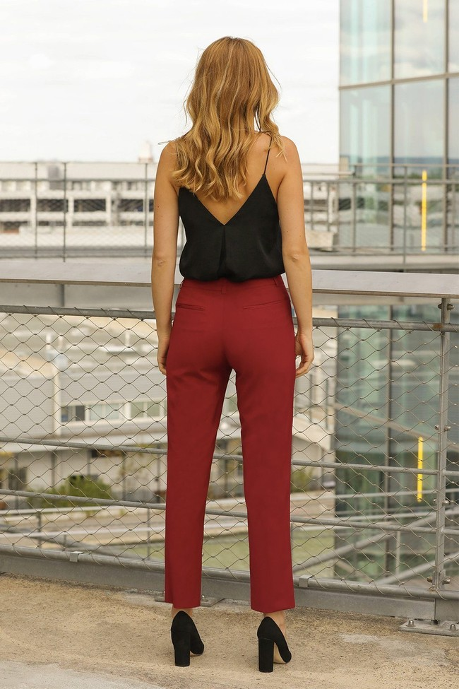 Pantalon tailleur new-york rouge - 17h10 num 1