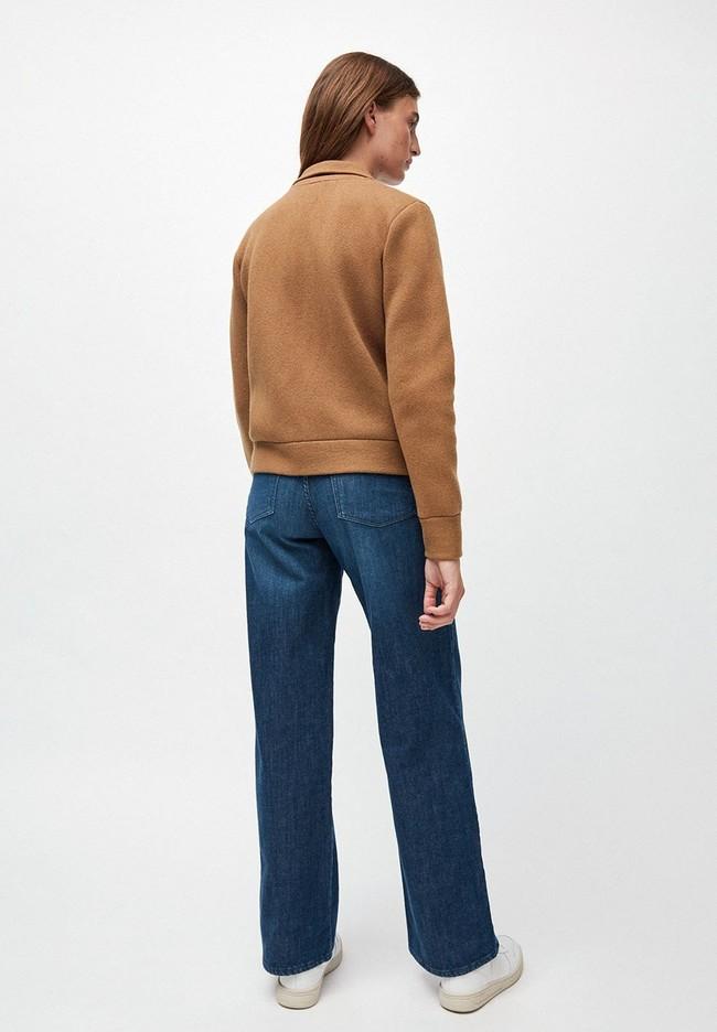 Veste marron en coton et laine bio  - alondraa - Armedangels num 2