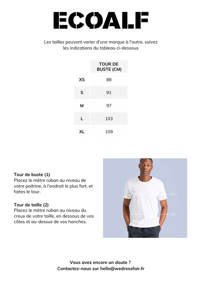 Guide de taille Ecoalf