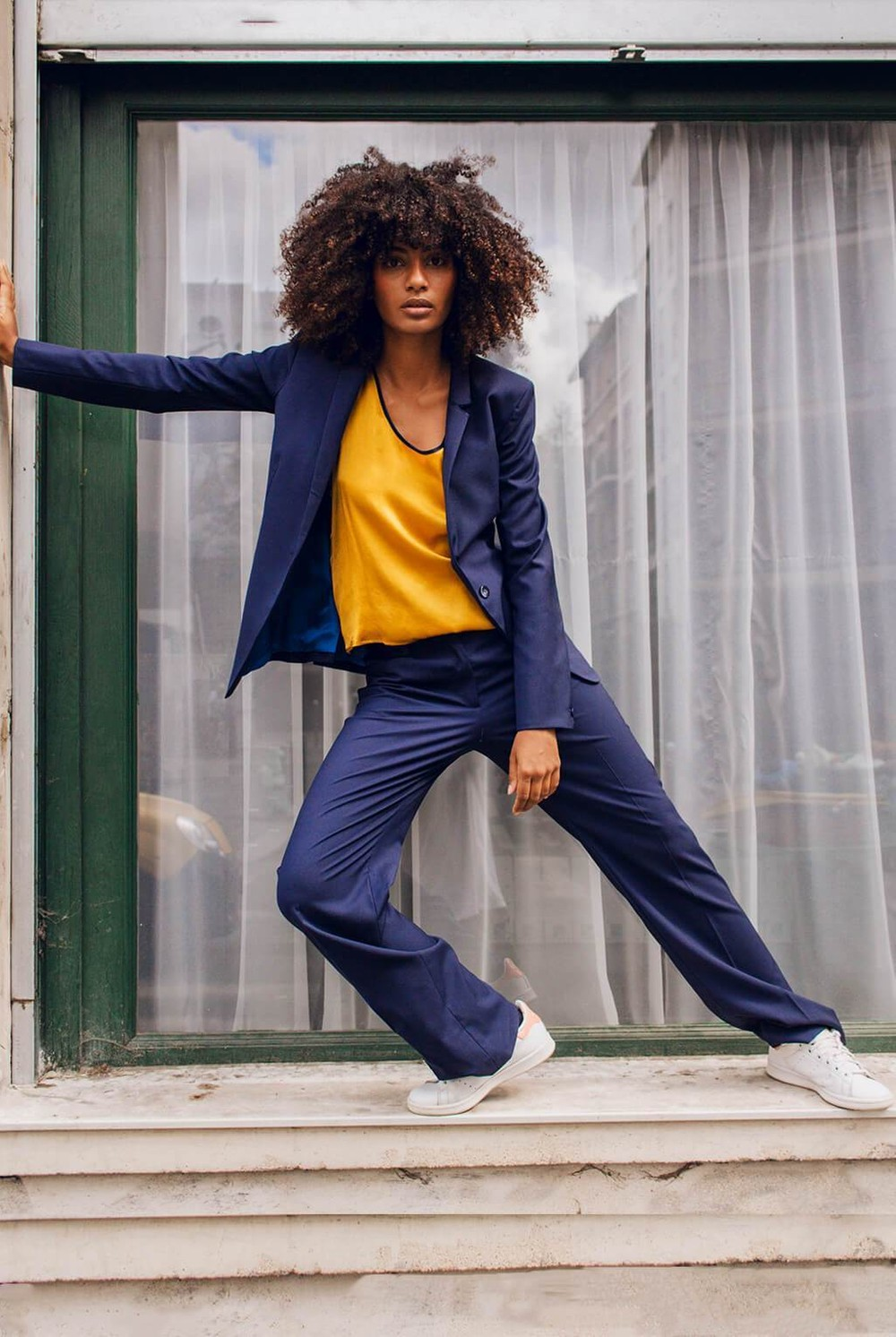 Pantalon tailleur berlin bleu marine - 17h10