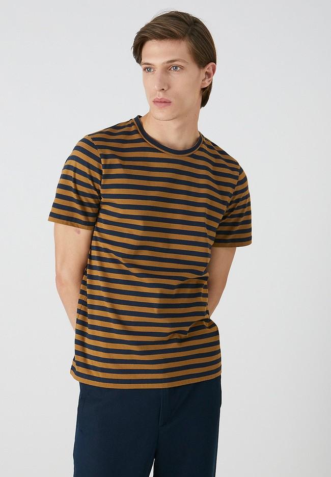 T-shirt rayé en coton bio - jaames breton - Armedangels