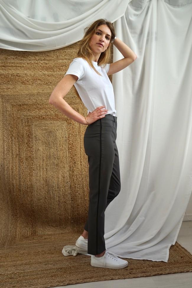 Pantalon tailleur new-york taupe - 17h10 num 3