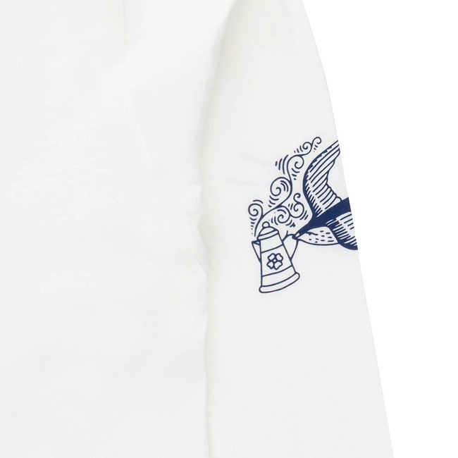 T-shirt en coton bio white coffee ls - Bask in the Sun num 2