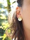 Boucles d'oreilles pilea (bébé) en argent recyclé - Elle & Sens - 1