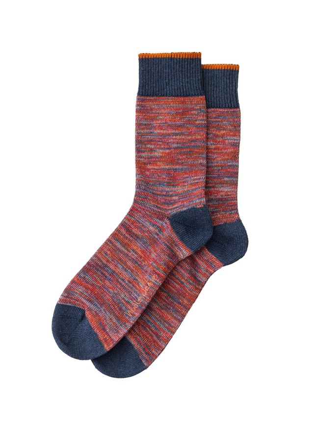 Chaussettes hautes rouge chiné - rasmusson - Nudie Jeans