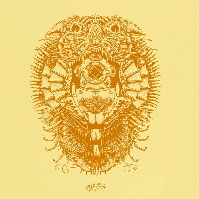 T-shirt en coton bio yellow creature - Bask in the Sun num 2