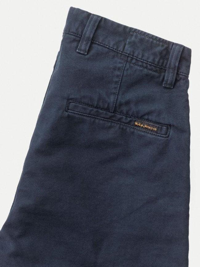 Short marine en coton bio - luke - Nudie Jeans num 4
