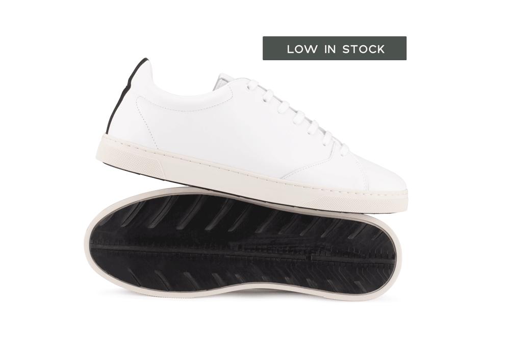 Chaussure en gravière cuir blanc / semelle off-white - Oth