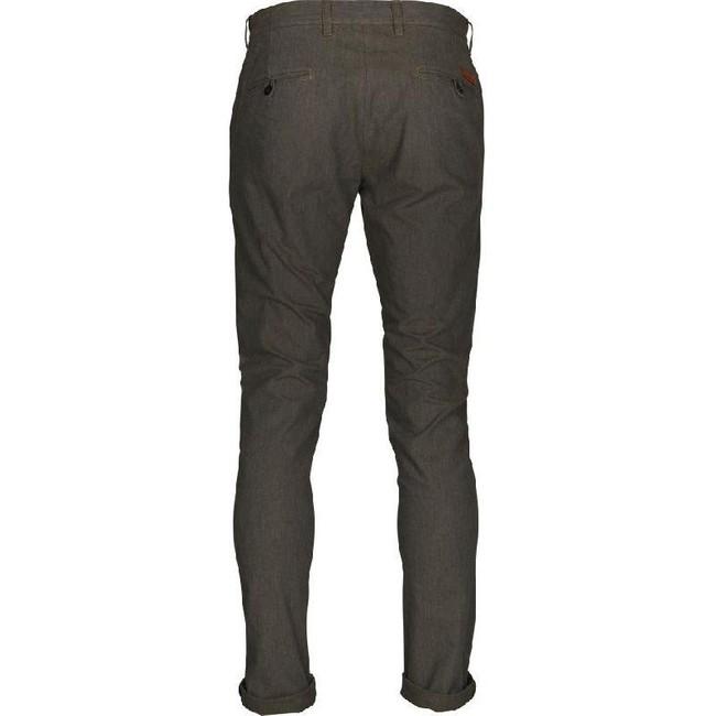 Pantalon chino droit flanelle vert forêt en coton bio - chuck - Knowledge Cotton Apparel num 1