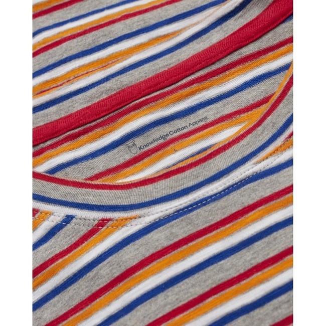 T-shirt rayé multicolore en coton bio - alder - Knowledge Cotton Apparel num 2