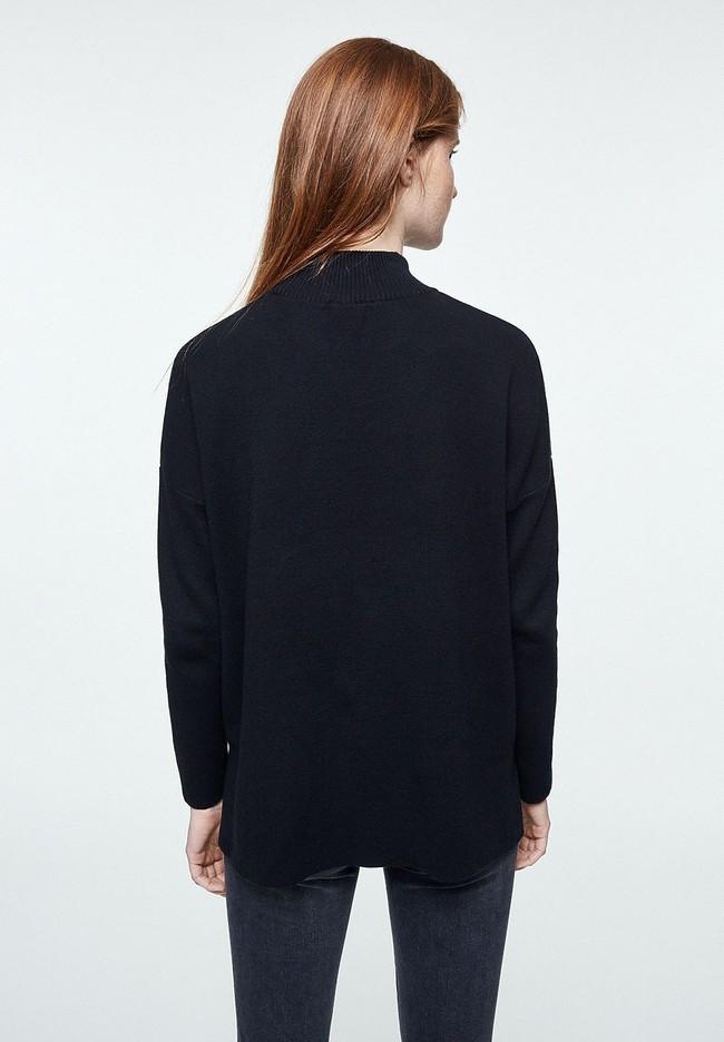 Pull noir en coton bio - yunaa - Armedangels num 2
