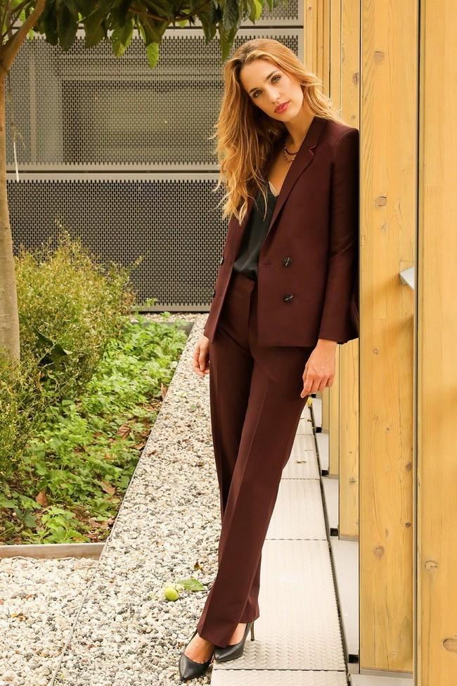 Pantalon tailleur berlin prune - 17h10 num 4
