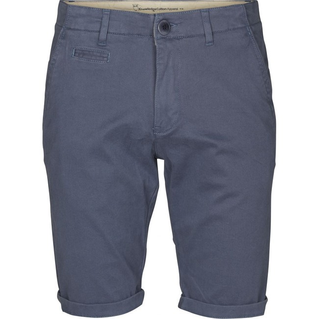 Short chino bleu en coton bio - Knowledge Cotton Apparel