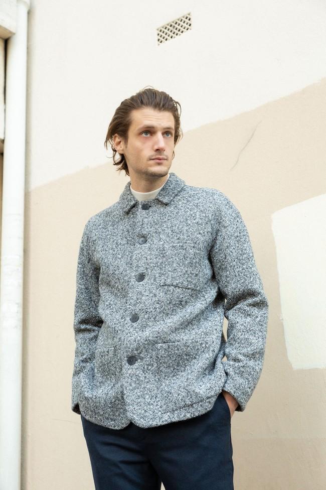Veste sapporo laine poivrée - Noyoco num 2