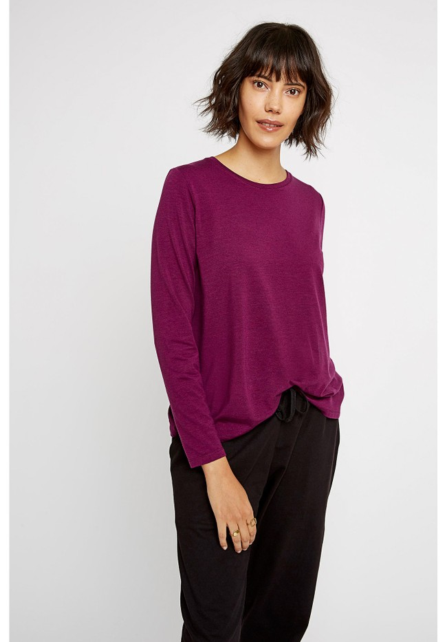 T-shirt manches longues violet - amara top - People Tree