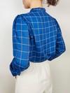 Chemise mao carreaux bleus - Les Récupérables - 3
