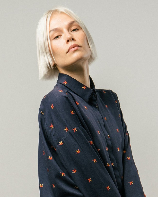 Bird's swarm printed dress - Brava Fabrics num 1