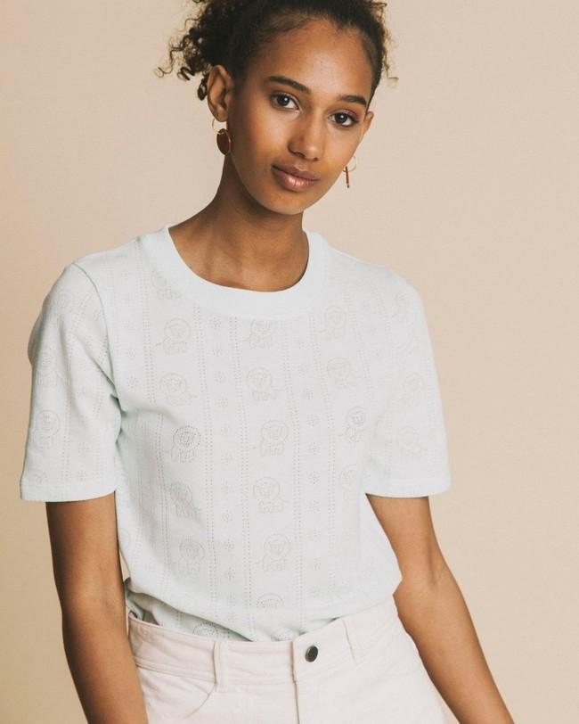 T-shirt bleu ciel en tencel et coton bio - mara - Thinking Mu