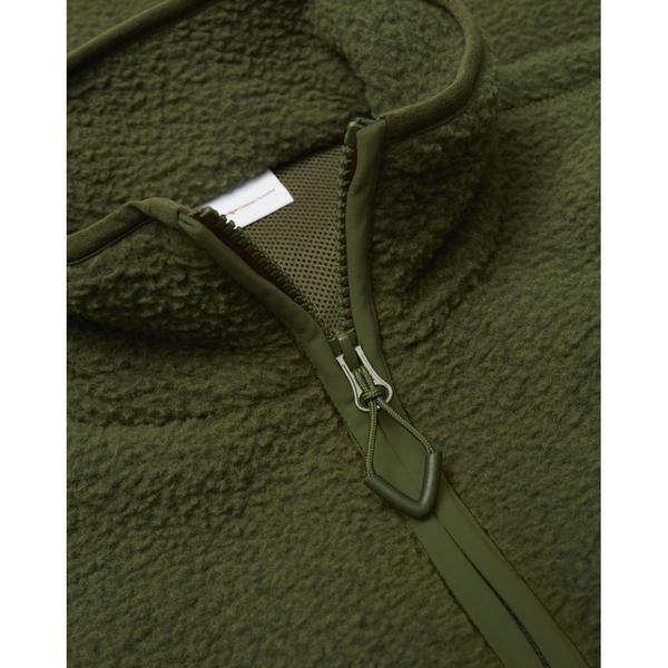 Veste polaire sans manches verte en polyester recyclé - Knowledge Cotton Apparel num 2