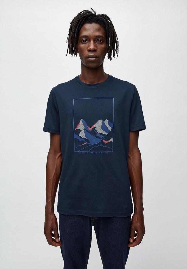 T-shirt marine en coton bio - jaames nature - Armedangels
