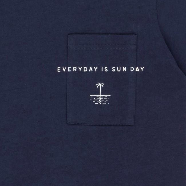 T-shirt en coton bio navy sun day - Bask in the Sun num 2