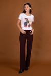 Pantalon tailleur berlin prune - 17h10 - 1