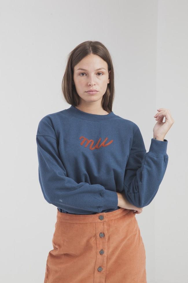 Jupe courte orange en coton biologique - Thinking Mu num 2