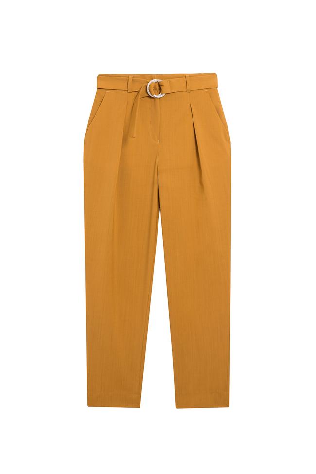 Pantalon tailleur casablanca jaune safran - 17h10 num 5