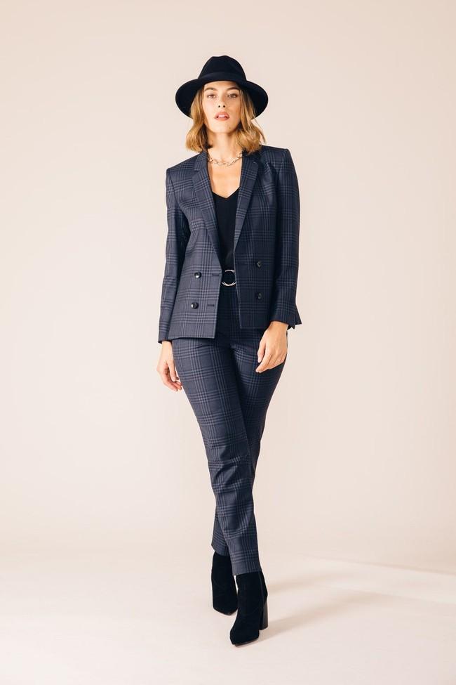 Pantalon tailleur casablanca tartan bleu - 17h10 num 4
