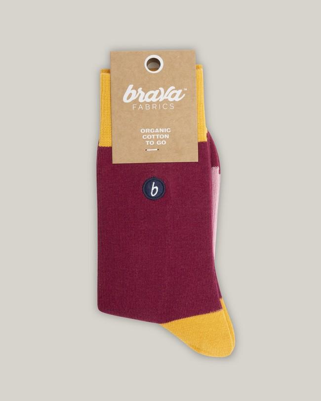 Organic cotton socks tiger - Brava Fabrics
