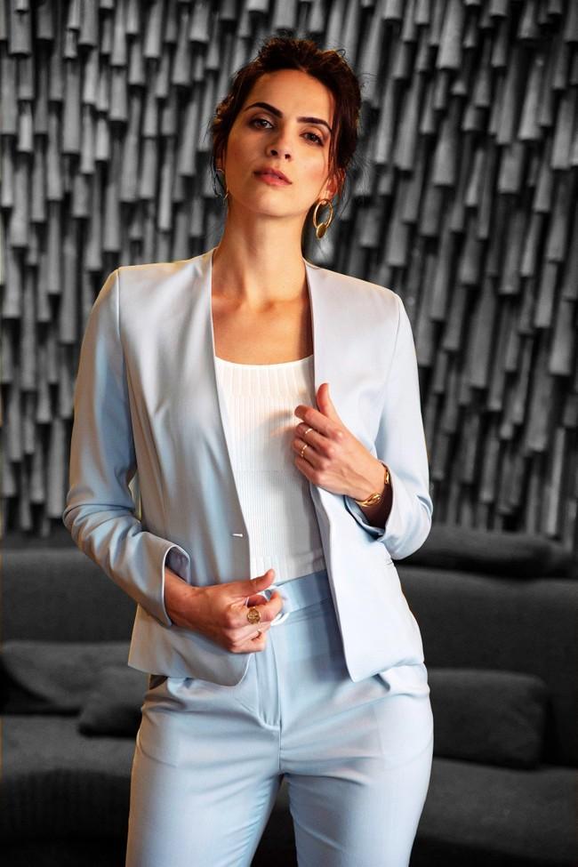 Veste tailleur sydney bleu pastel - 17h10 num 1